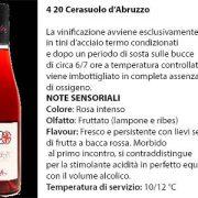 4 20 Cerasuolo d'Abruzzo, 6 euro