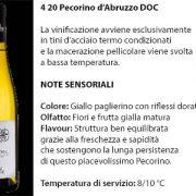 4 20 Pecorino d'Abruzzo Doc, 7 euro