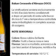 Bakan Cerasuolo d'Abruzzo Docg, 7 euro