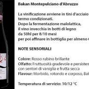 Bakan Montepulciano d'Abruzzo, 8,50 euro a bottiglia