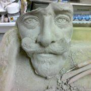 Vittorio Emanuele III, scultura in argilla